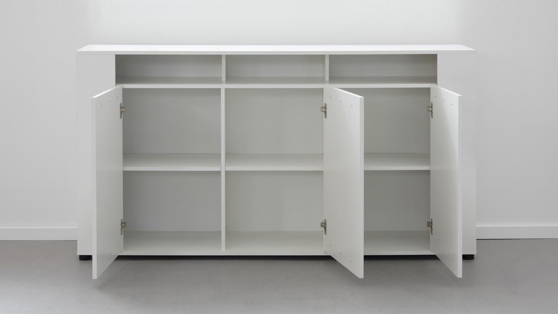 sideboard jump anrichte kommode schrank f r wohnzimmer in wei glanz. Black Bedroom Furniture Sets. Home Design Ideas
