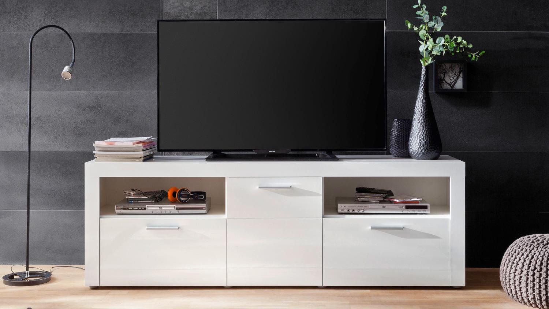 Tv Board Kito Lowboard Fernsehschrank Schrank In Weiss Hochglanz