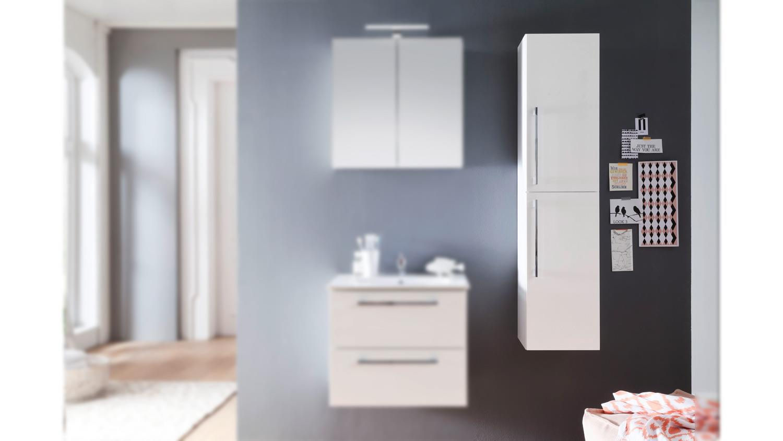 hochschrank intenso h ngeschrank badezimmer in wei. Black Bedroom Furniture Sets. Home Design Ideas