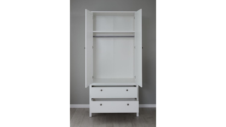 kleiderschrank ole schrank dreht renschrank f r babyzimmer in wei. Black Bedroom Furniture Sets. Home Design Ideas