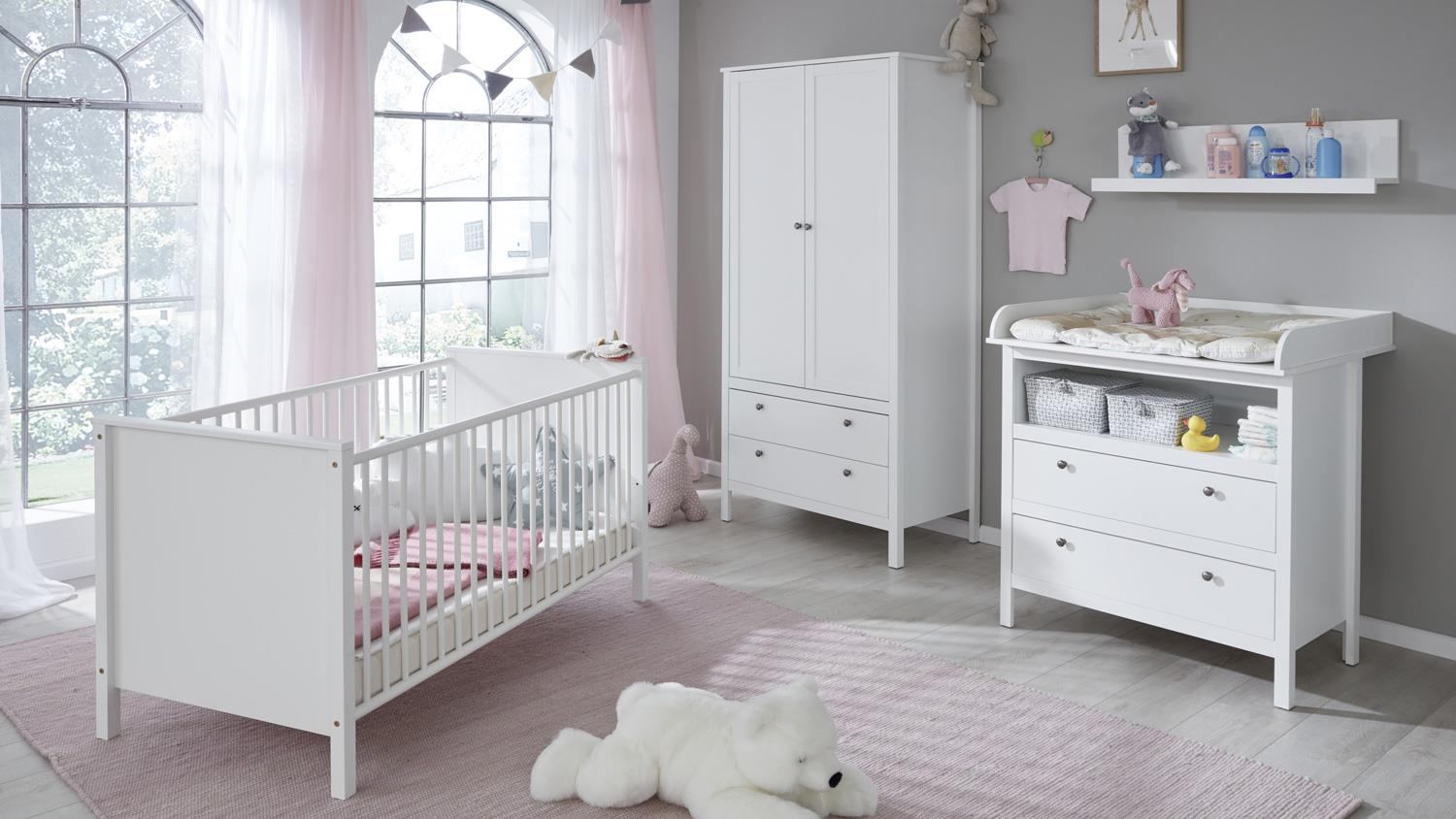 babyzimmer set ole kinderzimmer babybett schrank regal. Black Bedroom Furniture Sets. Home Design Ideas