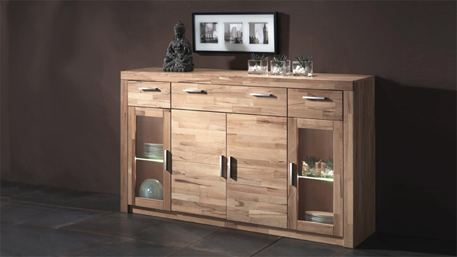 highboard simone kommode in kernbuche teilmassiv. Black Bedroom Furniture Sets. Home Design Ideas