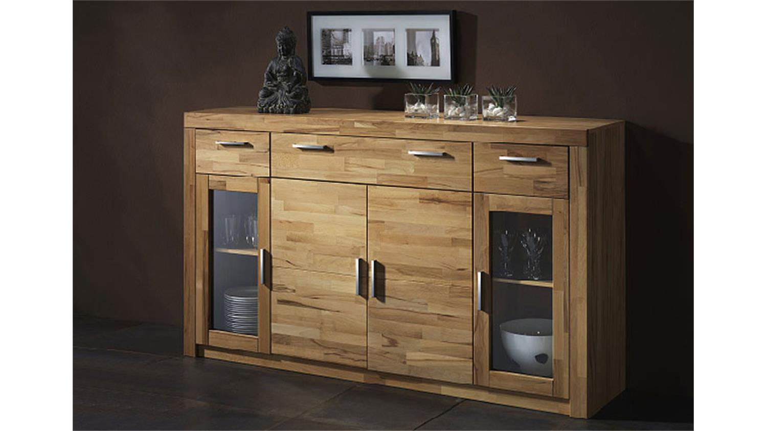 highboard berlin kommode in kernbuche teilmassiv ge lt. Black Bedroom Furniture Sets. Home Design Ideas