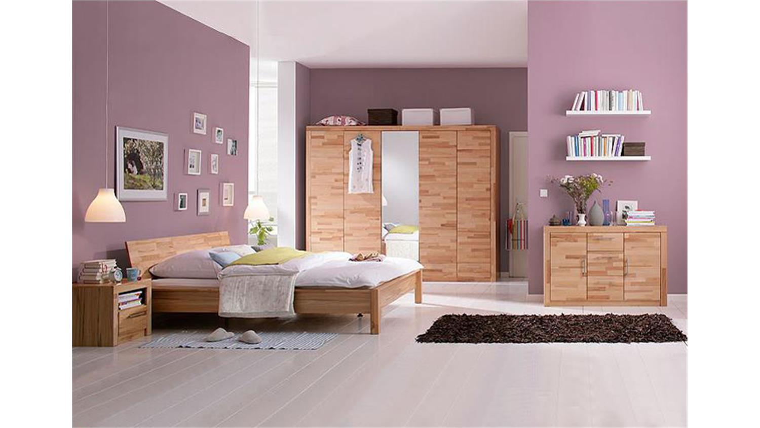 kleiderschrank berlin schrank in kernbuche massiv b 258 cm. Black Bedroom Furniture Sets. Home Design Ideas
