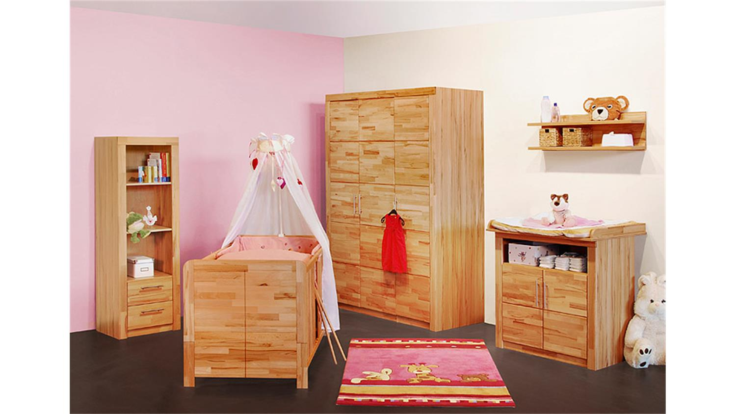 babyzimmer 5 tlg berlin kernbuche massiv. Black Bedroom Furniture Sets. Home Design Ideas