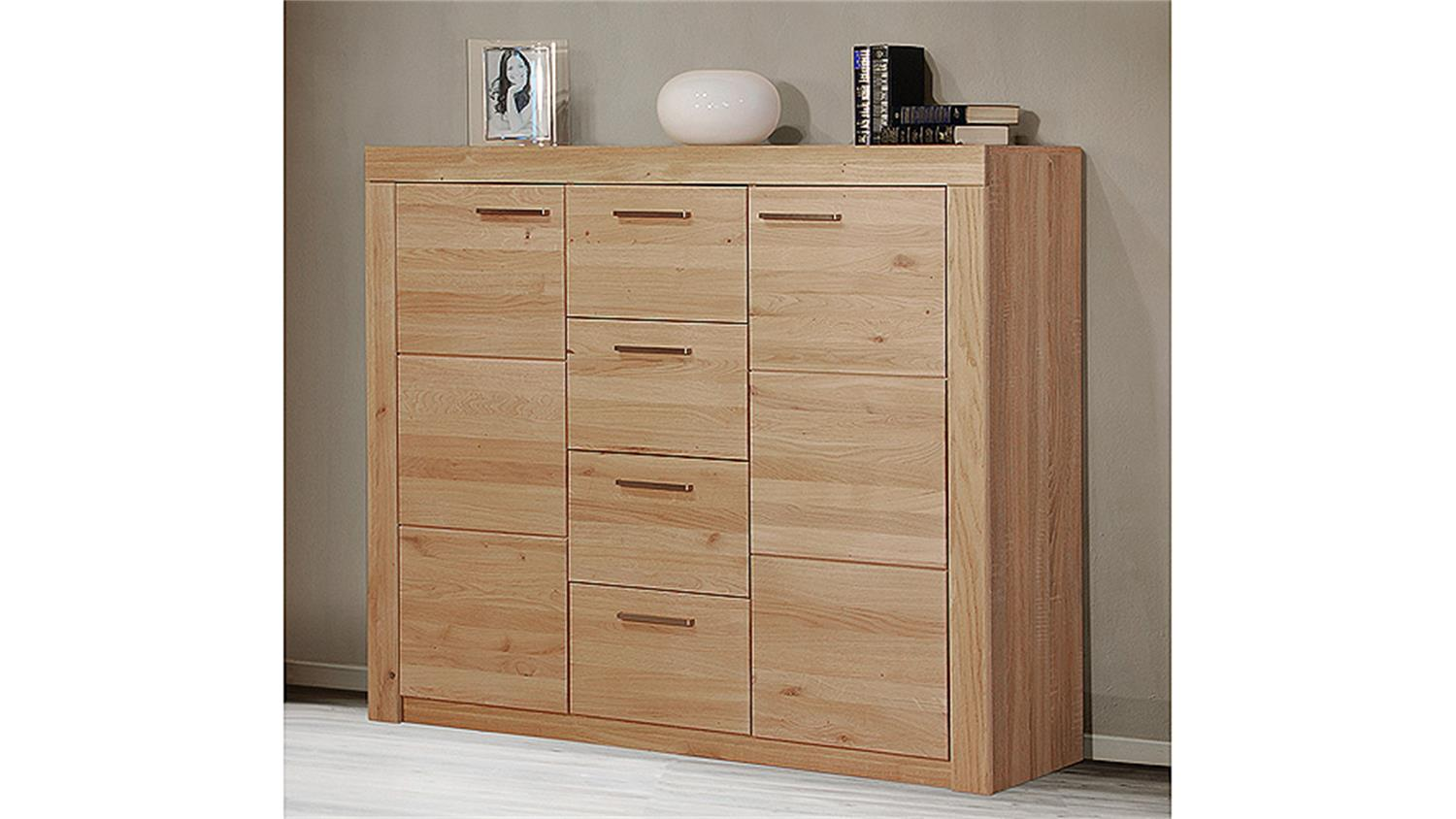 highboard 5 berlin wildeiche massiv sonoma. Black Bedroom Furniture Sets. Home Design Ideas