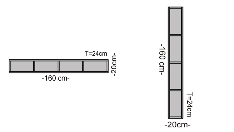 wandboard ravenna wandregal in betonoptik mit 4 f chern breite 160 cm. Black Bedroom Furniture Sets. Home Design Ideas