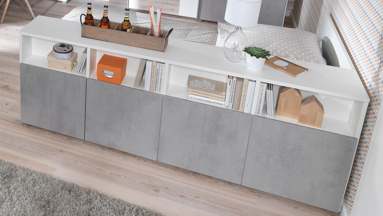 beton sideboard great sideboard mood m betonoptik cm breite with beton sideboard trendy. Black Bedroom Furniture Sets. Home Design Ideas