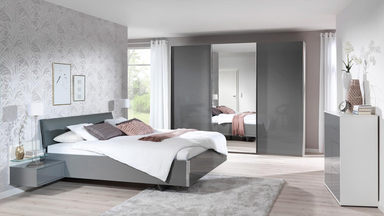 schwebet renschrank volcano schrank in grau hochglanz wei wellem bel. Black Bedroom Furniture Sets. Home Design Ideas