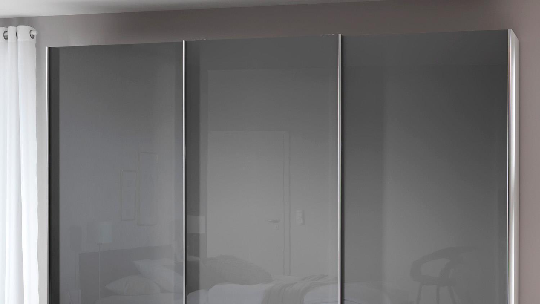 schwebet renschrank volcano schrank grau hochglanz wei wellem bel. Black Bedroom Furniture Sets. Home Design Ideas