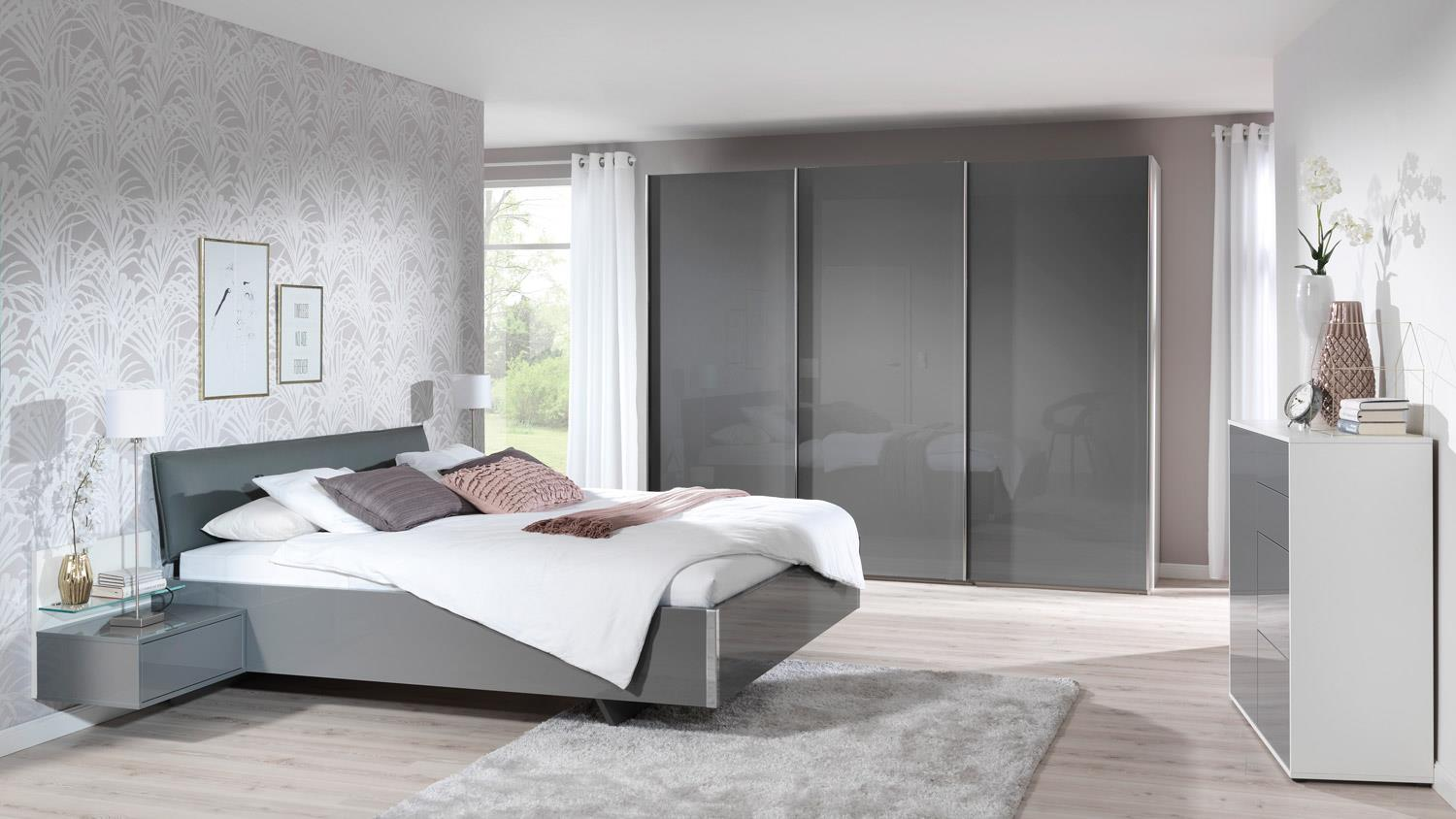 schwebet renschrank volcano schrank grau hochglanz wei wellem bel. Black Bedroom Furniture Sets. Home Design Ideas
