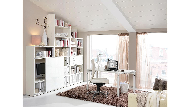 Schreibtisch HYPER Bürotisch Office-Tisch weiß von Wellemöbel 160x80