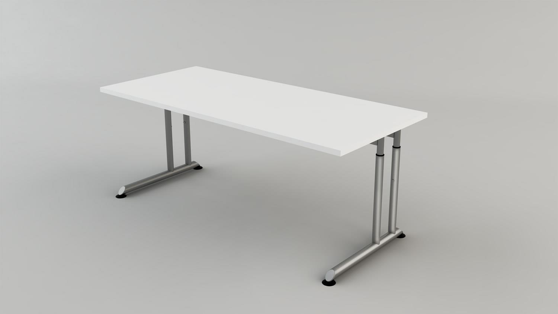 Büroset HYPER Schrank Regal Schreibtisch Kommode weiß von Wellemöbel