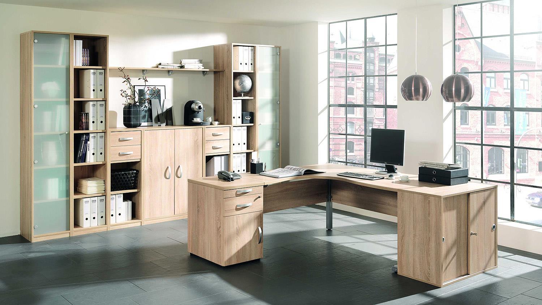 Büroset JOBEXPRESS Home-Office Büromöbel in Wildeiche von Wellemöbel