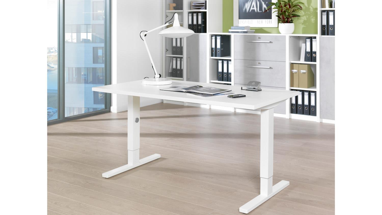 Schreibtisch PLANEO Bürotisch Computertisch in weiß von Wellemöbel 160