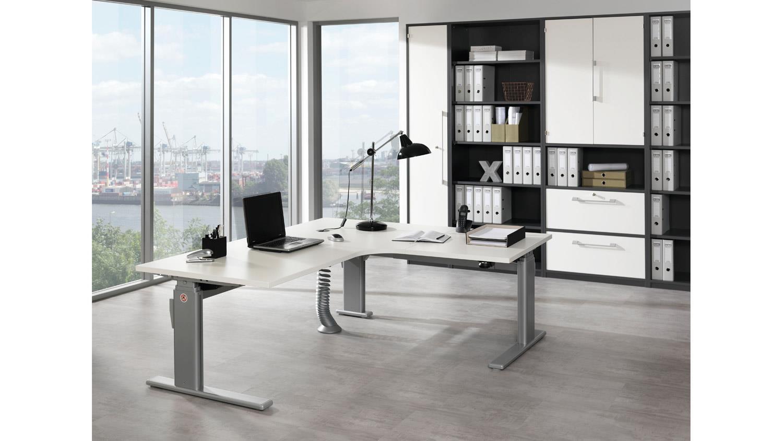 eck schreibtisch up down wei elektrisch h henverstellbar wellem bel. Black Bedroom Furniture Sets. Home Design Ideas