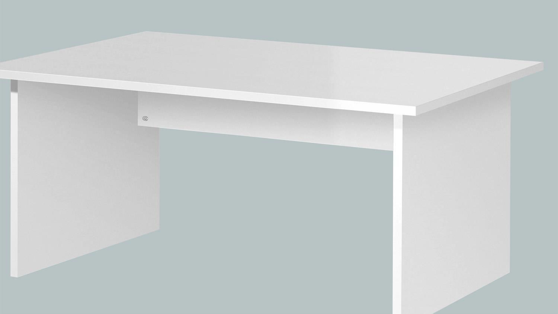 BÜRO COMBI+ Schreibtisch Büromöbel in weiß 240x160 cm
