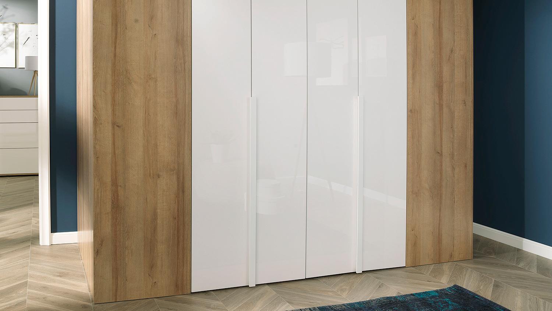 kleiderschrank ineo schrank begehbar wei hochglanz eiche wellem bel. Black Bedroom Furniture Sets. Home Design Ideas