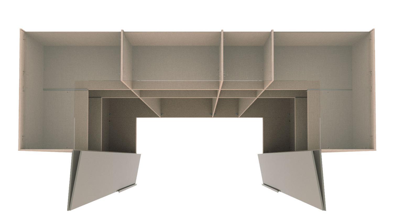 kleiderschrank ineo schrank begehbar wei hochglanz eiche. Black Bedroom Furniture Sets. Home Design Ideas