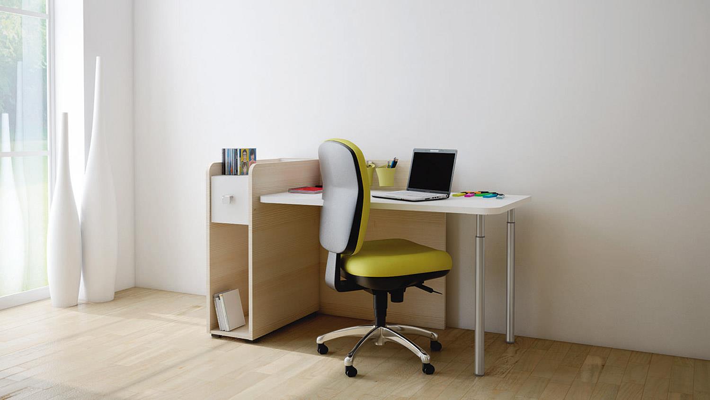 Schreibtisch UNLIMITED Computertisch in Esche Coimbra weiß Wellemöbel