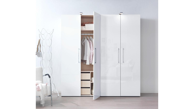 kleiderschrank kleiderschrankwunder in wei hochglanz wellem bel 200. Black Bedroom Furniture Sets. Home Design Ideas