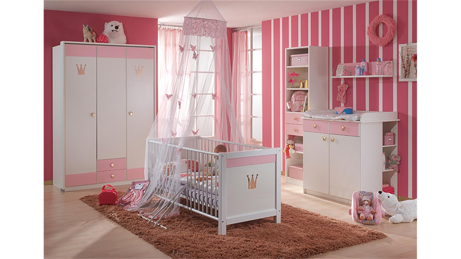 babybett kinderbett cinderella wei und ros. Black Bedroom Furniture Sets. Home Design Ideas