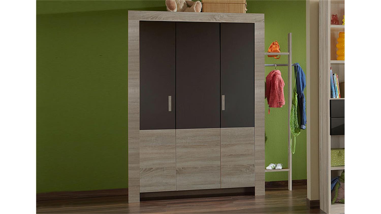 kleiderschrank cheria sonoma eiche s gerau und lava 135. Black Bedroom Furniture Sets. Home Design Ideas