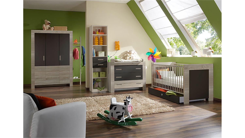 Babyzimmer Set Cheria Sonoma Eiche Sagerau Weiss 4 Tlg