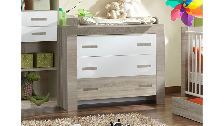 wickelkommode cheria in sonoma eiche s gerau und wei. Black Bedroom Furniture Sets. Home Design Ideas