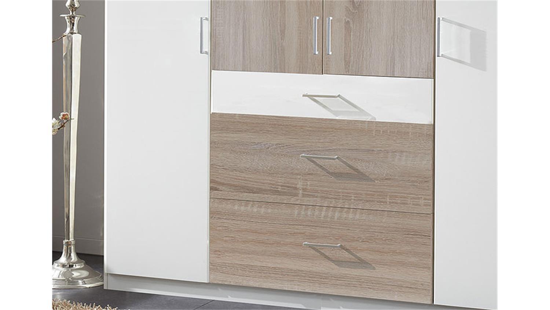 kleiderschrank click in wei und sonoma eiche s gerau 180 cm. Black Bedroom Furniture Sets. Home Design Ideas