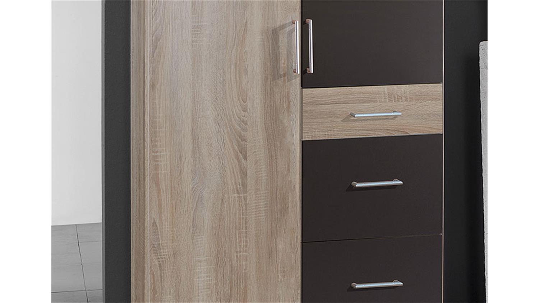 kleiderschrank click sonoma eiche s gerau lava 90 cm. Black Bedroom Furniture Sets. Home Design Ideas