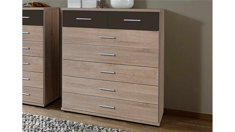 kommode click in sonoma eiche s gerau und lava 91x103x40 cm. Black Bedroom Furniture Sets. Home Design Ideas