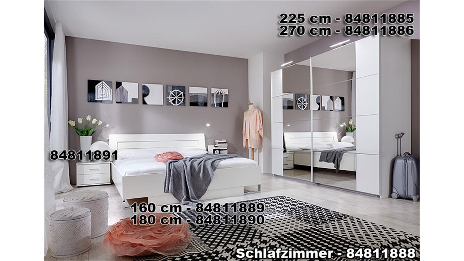 schwebet renschrank davos 225 cm wei mit spiegel. Black Bedroom Furniture Sets. Home Design Ideas