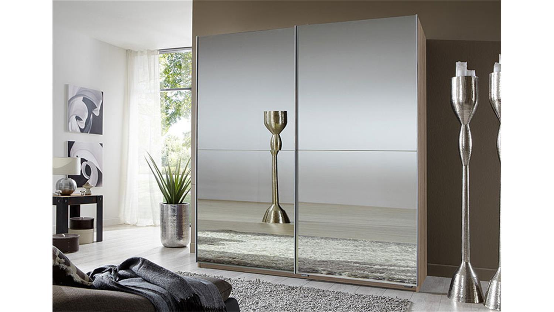 schwebet renschrank lesca sonoma eiche mit spiegel 180. Black Bedroom Furniture Sets. Home Design Ideas