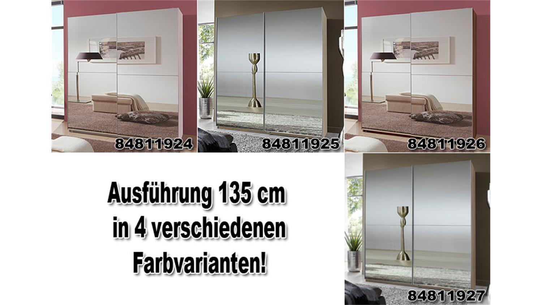 schwebet renschrank lesca in wei mit spiegelfront 180. Black Bedroom Furniture Sets. Home Design Ideas