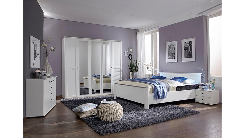 marvelous schlafzimmer kombi #1: Schlafzimmer Kombi 1 Chalet in Alpinweiß mit Spiegeln
