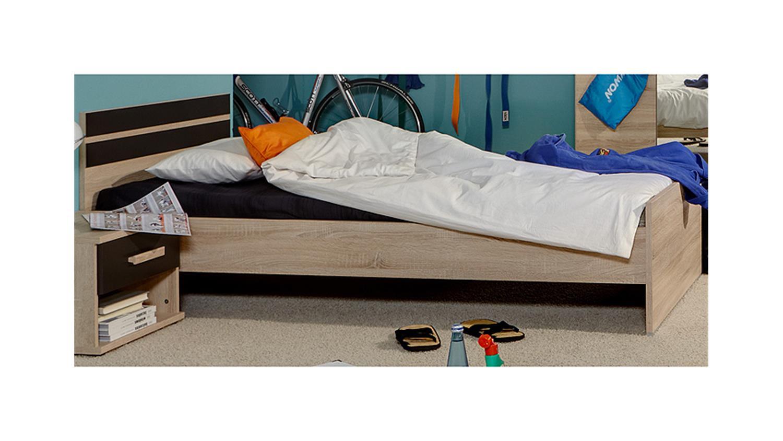 bett game sonoma eiche s gerau und lavafarbig 90x200 cm. Black Bedroom Furniture Sets. Home Design Ideas