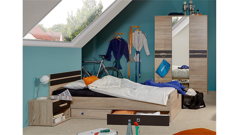 jugendzimmer set game sonoma eiche s gerau und lavafarbig. Black Bedroom Furniture Sets. Home Design Ideas