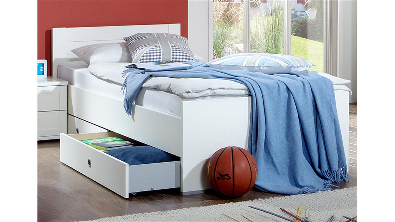 bett filou kinderzimmer kinderbett in alpinwei 90x200cm. Black Bedroom Furniture Sets. Home Design Ideas