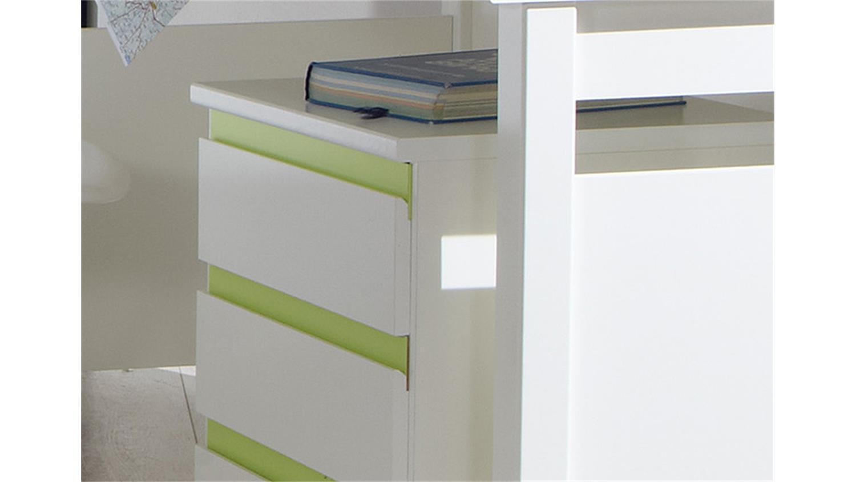 schreibtisch mit rollcontainer jugendzimmer bibi wei und. Black Bedroom Furniture Sets. Home Design Ideas