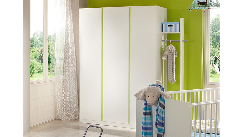 babyzimmer bibi 4 teilig wei und apfelgr n. Black Bedroom Furniture Sets. Home Design Ideas