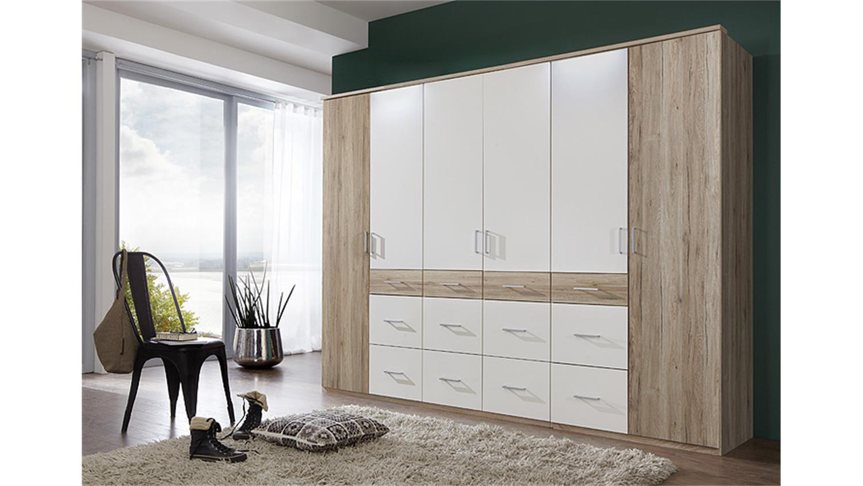 kleiderschrank click 2 san remo eiche wei 270. Black Bedroom Furniture Sets. Home Design Ideas