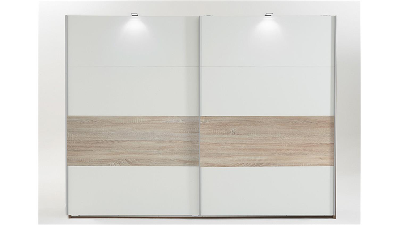 kleiderschrank bert wei abs eiche s gerau 225 cm. Black Bedroom Furniture Sets. Home Design Ideas