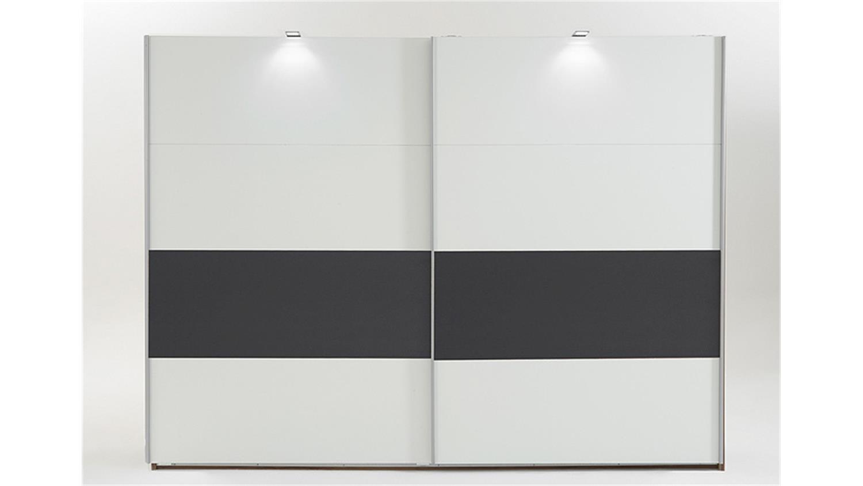 kleiderschrank bert wei abs anthrazit 270 cm. Black Bedroom Furniture Sets. Home Design Ideas