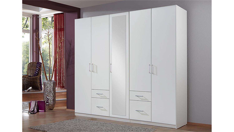 kleiderschrank fly in wei mit spiegel b 225 cm. Black Bedroom Furniture Sets. Home Design Ideas