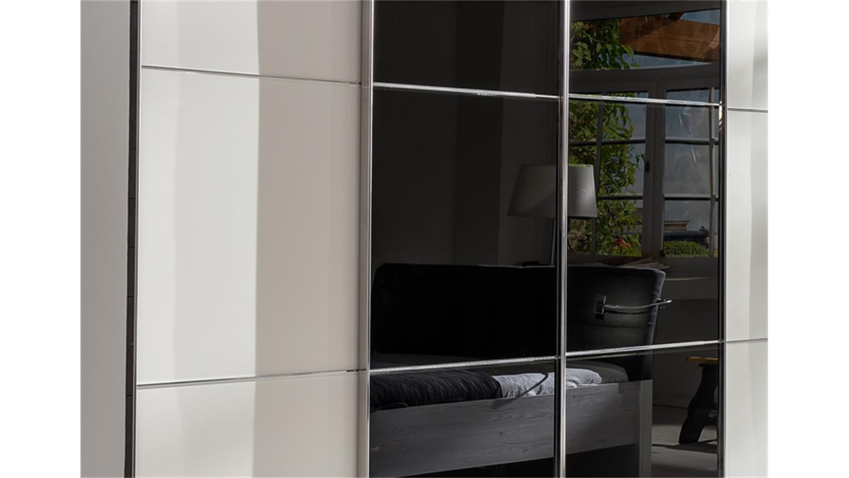 schwebet renschrank escape alpinwei glasfront schwarz 300 cm. Black Bedroom Furniture Sets. Home Design Ideas