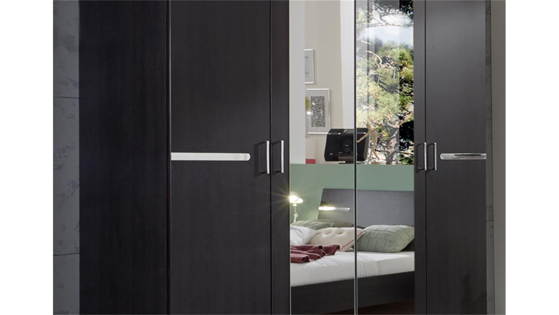 dreht renschrank anna in eiche brasil mit spiegel. Black Bedroom Furniture Sets. Home Design Ideas