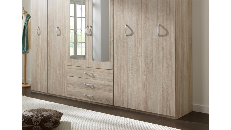 kleiderschrank logo in eiche s gerau 270 cm breit. Black Bedroom Furniture Sets. Home Design Ideas