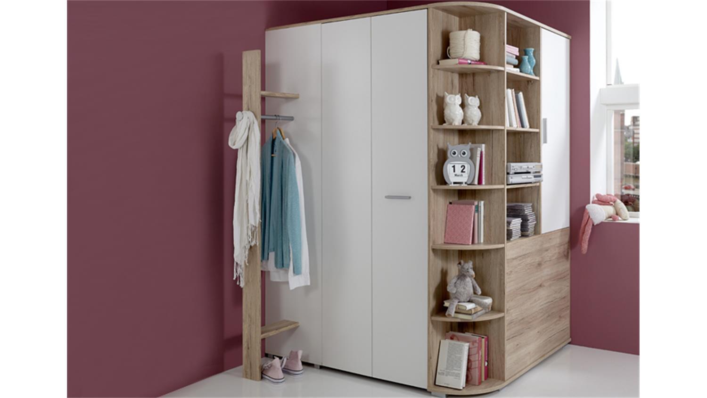 jugendzimmer set joker bett 90x200 san remo eiche und. Black Bedroom Furniture Sets. Home Design Ideas