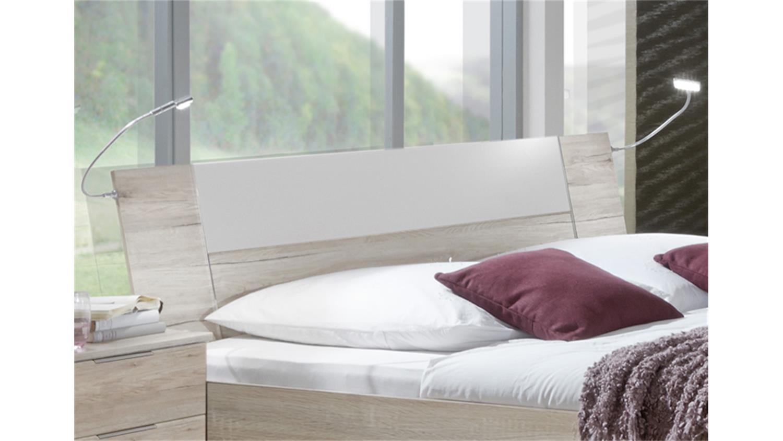bett match up eiche s gerau absetung alpinwei 180x200 cm. Black Bedroom Furniture Sets. Home Design Ideas